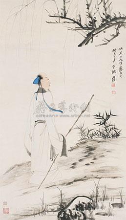 柳荫高士图 by zhang daqian