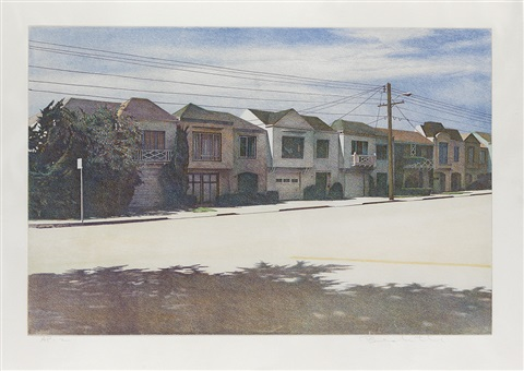 sunset street by robert bechtle