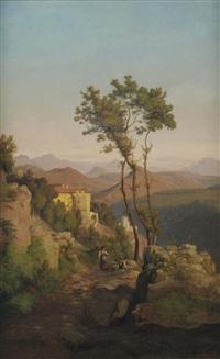 gulf of sorrent by ludwig heinrich theodor (louis) gurlitt