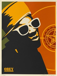 flava flav; chuck d (set of 2) by shepard fairey