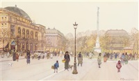 paris street scene by paul renard