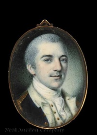 colonel john laurens of charleston, south carolina (+ engraving of the same by albert rosenthal) by charles willson peale
