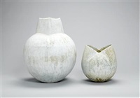 a globular pot with square neck by john ward