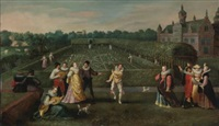 courtiers strolling in a garden by hieronymus francken the elder
