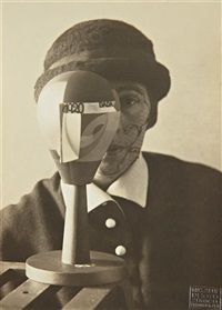 untitled (sophie taeubur-arp behind dada head) by nic aluf