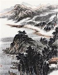 春水映晖 镜心 纸本 by xu ming