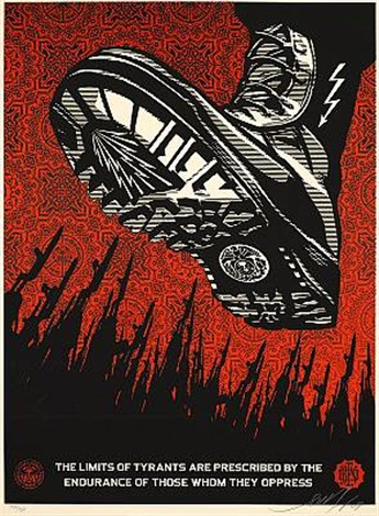 tyrant boot by shepard fairey