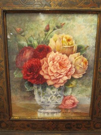 nature morte aux roses by madeleine renaud