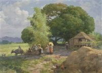 village procession by fernando cueto amorsolo