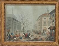 une parade militaire traversant une ville by flemish school (19)