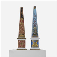 obelisks (pair) by gianni versace