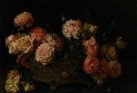 still life with roses by licinio barzanti