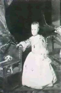 portrait of prince felipe prospero (after velasquez) by georges muller