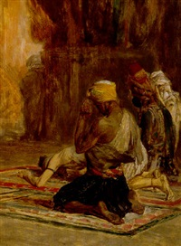 prayer in a mosque by charles bargue