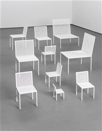 mimicry chairs (from the unique red room installation, commissioned by the london design festival) (10 works) by nendo