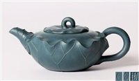 绿泥荷花壶 (a teapot in lotus shape) by jiang yihua