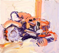 lilac tractor by craig waddell