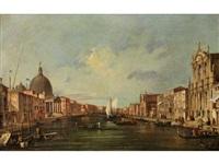 venezianische vedute mit blick auf den canal grande mit kirchengebäuden by francesco guardi