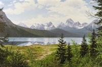spray lakes reservoir, kananaskis country by roger kamp