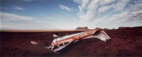 airplane in monument valley by wim wenders