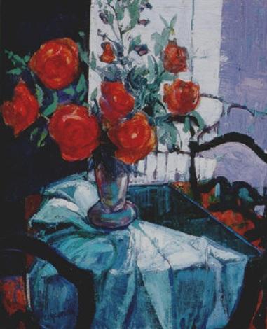 Ventana Para Unas Rosas Rojas By Cristina Perez Gabrielli On