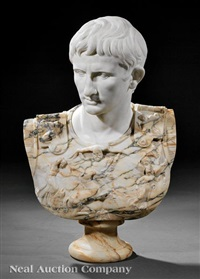 bust of augustus of prima porta by anonymous-italian