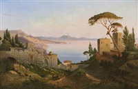 veduta di napoli da sant'antonio a posillipo by jan jacob schenkel
