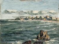 la plage du miramar et le phare à biarritz by jiva
