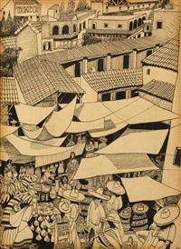 illustration zum buch dalekohled aneb kdo nevěří, ať tam běží (fernglas, oder: wers nicht glaubt, soll hinlaufen) by adolf hoffmeister