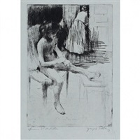 minne reflechissant by jacques villon