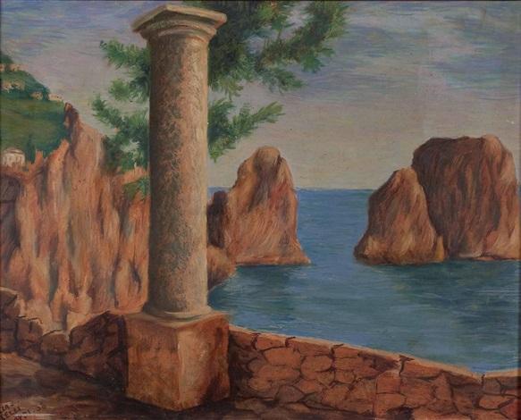 capri mit blick auf die marina piccola und die faraglioni klippen by arturo ciacelli