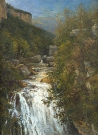 la cascade de sassenage by louis vagnat