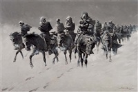thirty below and a blizzard raging by frederic remington