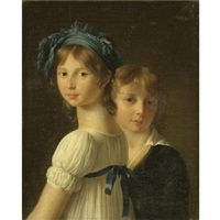 portrait of a sister and her younger brother by marie-victoire lemoine