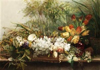 still life of flowers by marguerite ludovici