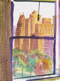 view from the mayflower hotel, new york (evening) by david hockney