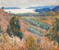 paysage lacustre ensoleillé by pierre paulus