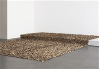 hand-loomed gallop tweed rug by jack lenor larsen