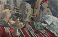 a still life in the artist's studio by kees verwey