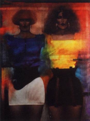 deux femmes de face by aris antoyan