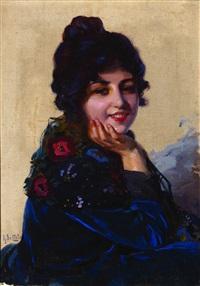 ritratto femminile by arnaldo de lisio
