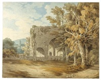 cornworthy abbey, south hams, devon by john white abbott