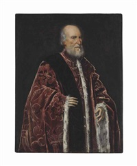 portrait of a venetian senator, traditionally identified as luigi cornaro by jacopo robusti tintoretto