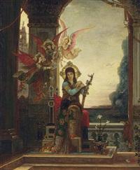 sainte cécile et les anges de la musique by gustave moreau