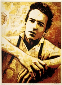 strummer canvas by shepard fairey