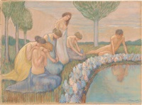 Narcissus and group of women, 1905