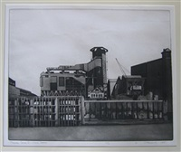 power station (+ refinery; 2 works from thames series ii/iii) by sidney hurwitz