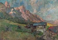 bauerngehöft im gschnitztal by hans wulz