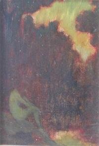 nude in a landscape by warren b. davis