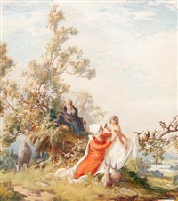 rest on the flight to egypt by gustav eyer